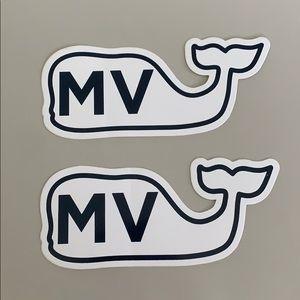 Vineyard Vines Martha's Vineyard Whale Sticker